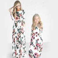 Bohemian Women Dresses For Mother Daughter Floral Little Girls Dresses Family Matching Dress Fashion Mom And