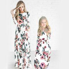 Богемные женские платья для мамы и дочки, Платья с цветочным принтом для маленьких девочек, одинаковые платья для семьи, модное платье для мамы и меня, платье для малышей