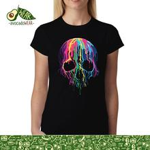 Melting Skull Horror Women T-shirt XS-3XL NewStreetwear Funny Print Clothing Hip-Tope Mans T-Shirt Tops Tees Hot Sale Men