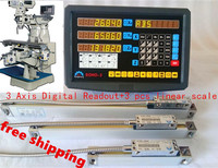 High accuracy complete set milling lathe drill boring CNC machine 3 axis digital readout dro with linear scale