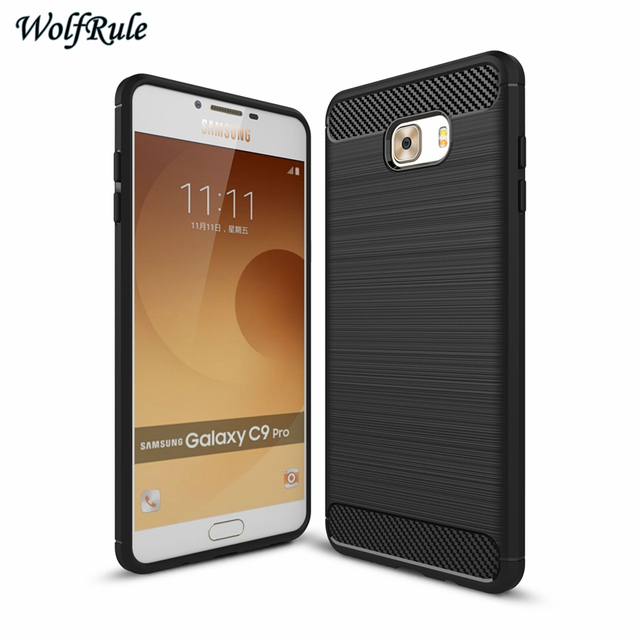 WolfRule For Cover Samsung Galaxy C9 Pro Case For Samsung C9 Pro Case Shockproof Soft TPU Phone Case For Samsung Galaxy C9 C900