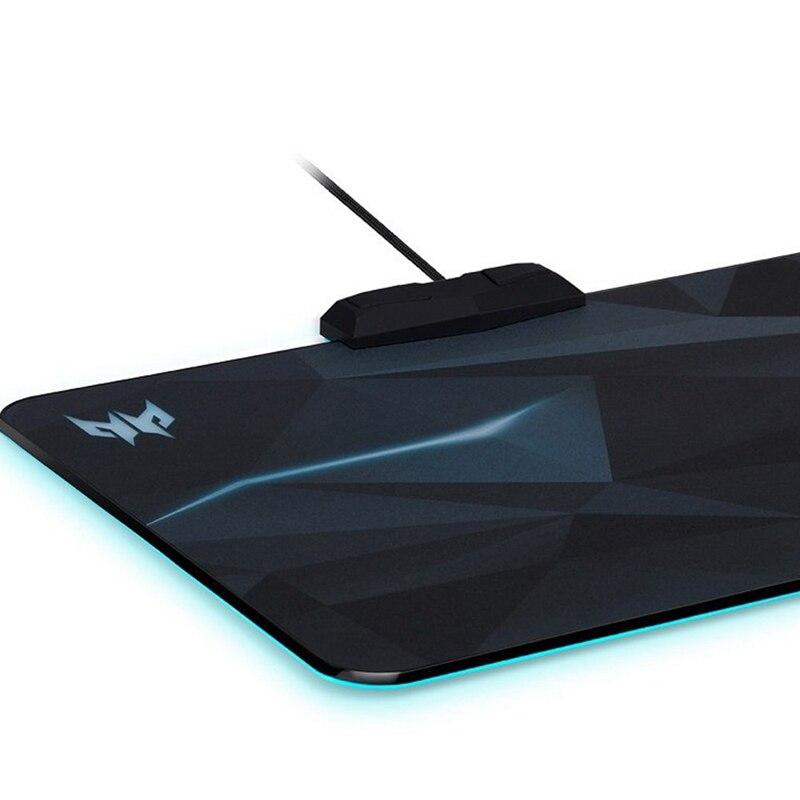 Tapis de souris RGB éclos illumine le tapis de souris tapis de souris de jeu avec 6 effets d'éclairage et 4 tapis de souris de jeu de niveau de luminosité - 3
