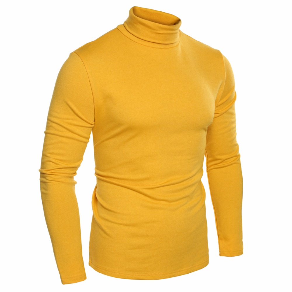 Winter Tee Us 18 23 47 Off Coofandy New Arrivals Men Basic Shirt 2017 Winter Tee Fashion Slim Fit Thermal Underwear Turtleneck Long Sleeve Solid T Shirts In