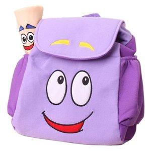 IGBBLOVE Dora Explorer Backpack Rescue Bag with Map,Pre-Kindergarten Toys Purple for Christmas gift(China)