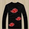 Naruto Akatsuki Cosplay de manga comprida camiseta homens Anime Itachi Uchiha traje de algodão t-shirt t-shirt