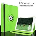 Para a apple ipad pro 12.9 360 graus de rotação capa de couro para o ipad pro despertar do sono stand caso tablet proteção