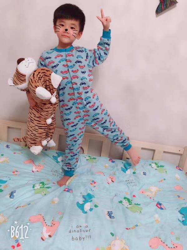 free shipping purekids boys sleepwear onepiece blanket sleepers cotton children underwear overall kids thin pajamas jumpsuit 3