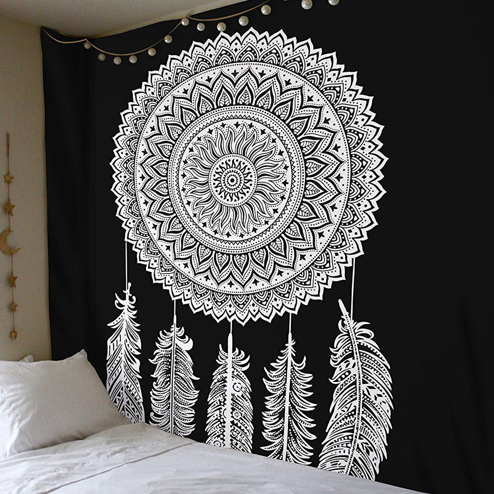 Гобелен чехол на спинку кровати Придверный коврик Современный Пляжный коврик из полиэстера Boho Мандала диван накидки пледы спальный настенная крышка