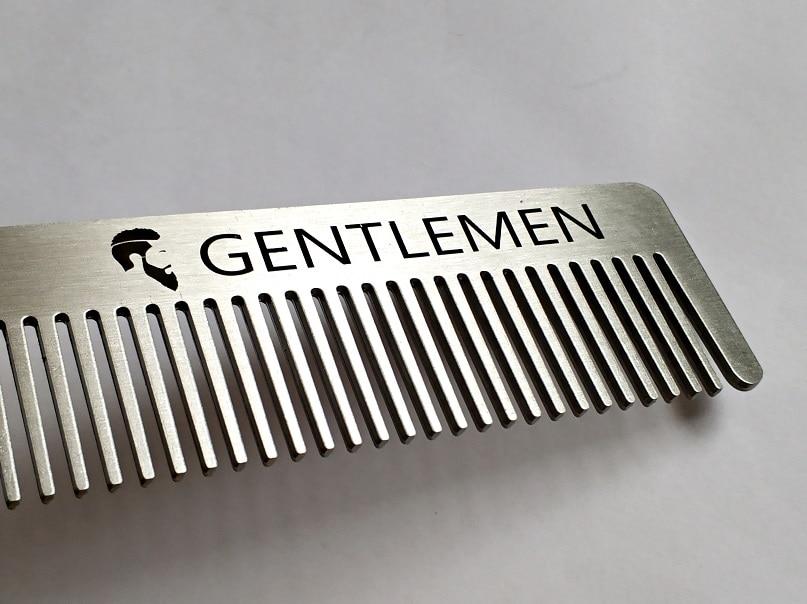 LAOCCCROSS Men Beard Comb Long Stainless Steel Beard Shaving Brush Men's Mini Mustache Pocket Comb Bottle Opener 3