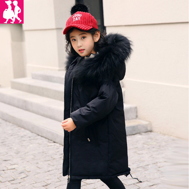 2018 warm kids down jacket for girl children's cold winter jackets boys coat Long Pattern Child girls Clothes parka -20-30degree new 2017 winter baby thickening collar warm jacket children s down jacket boys and girls short thick jacket for cold 30 degree