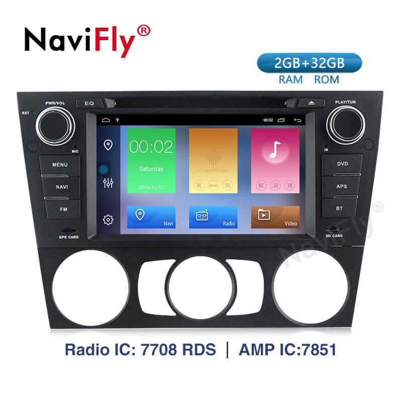 Navifly! 2G+32G Android 9.1 Car dvd palyer Multimedia For BMW/3 Series E90 E91 E92 E93 car GPS Navigation radio audio WIFI RDS