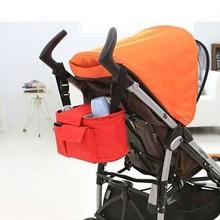 лучшая цена baby stroller bag for baby organizer cheap mother stroller nappy diaper bags tote basket storage shop trolley nursing red green