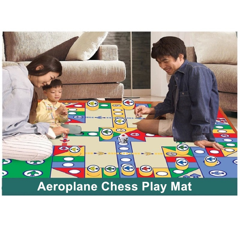 Hot Sale 82*82cm Simply Ludo Pattern Play Mats Baby Activity Mat Crawling Mat Camping Kids Carpet For Kids Play Games