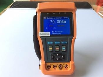 Probador de cctv con multímetro Digital, medidor de Potencia Óptica, captura de pantalla de Video, grabación de Video, memoria interna (8G), control PTZ