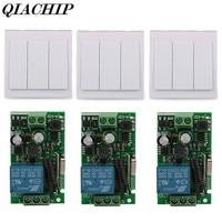 Wall Switch 3 CH Transmitter Module 1 433MHz Relay Receiver CH RF TX 433MHz RF RX