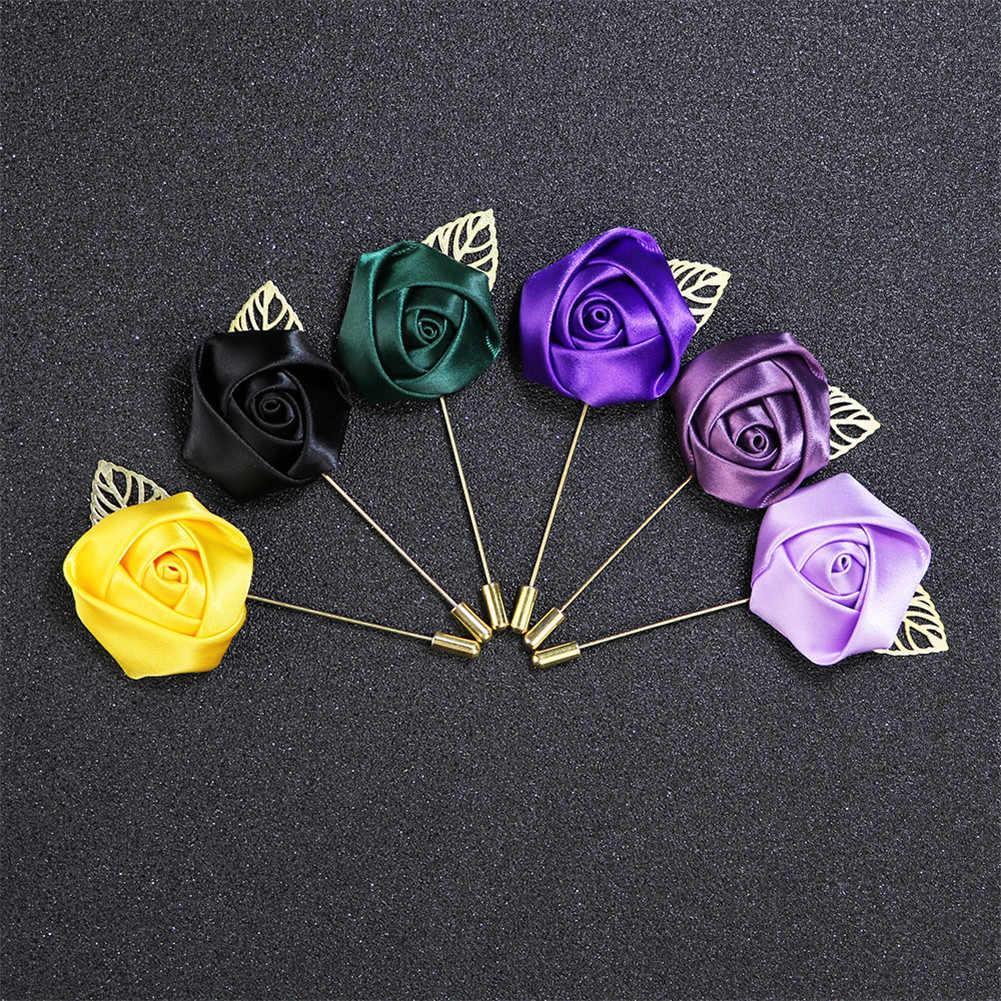 Pria Perapi Rose Bunga Bros Kanvas Kain Pita Dasi Bros untuk Wanita dan Pria Pakaian Gaun Aksesoris 19 warna