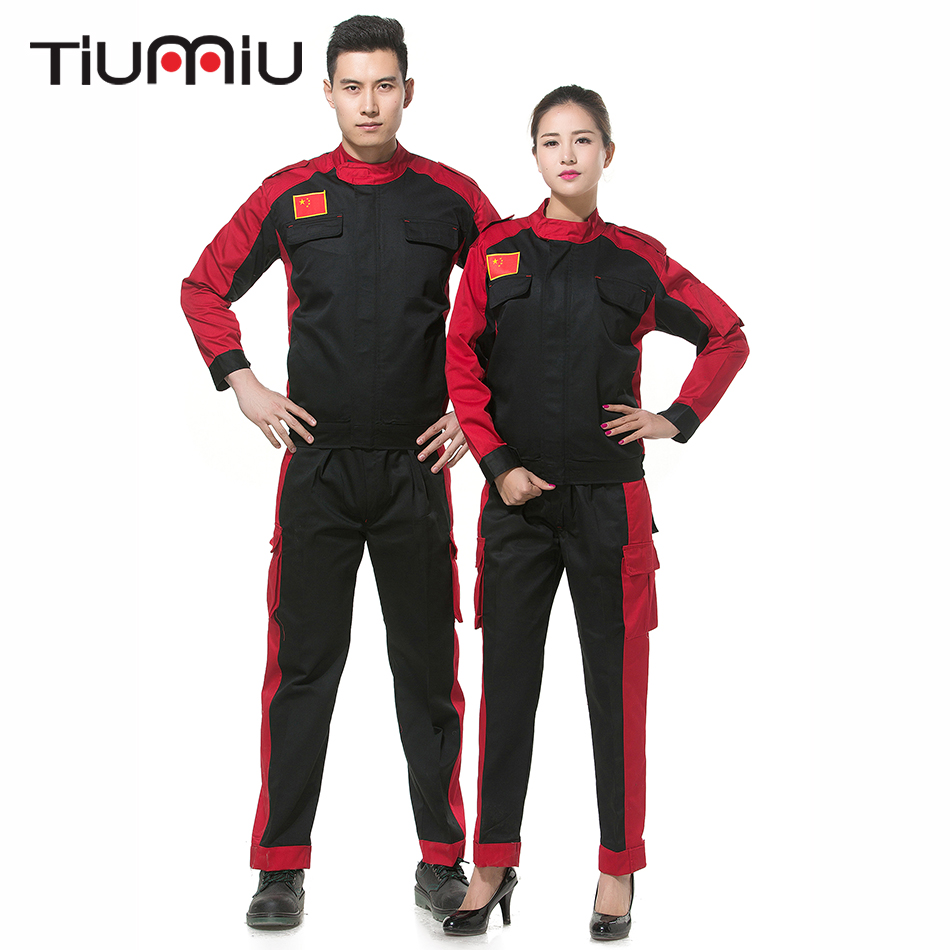 2018 High Quality New Unisex Workwear Set Two-Piece Auto Repair Coat With Pants Protective Clothing Engineering Workshop Uniform