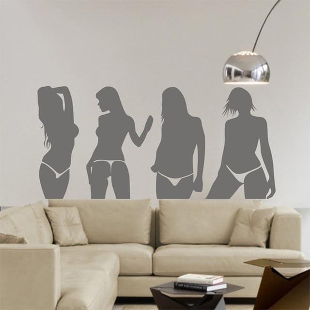 bar pab ktv salle de billard shop magasin chaude sexy fille dame mur art autocollants sticker. Black Bedroom Furniture Sets. Home Design Ideas