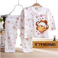 Newborn baby boys girls baby clothes brand 100% cotton set for 2017 spring summer baby clothing sets sports long-sleeved suits