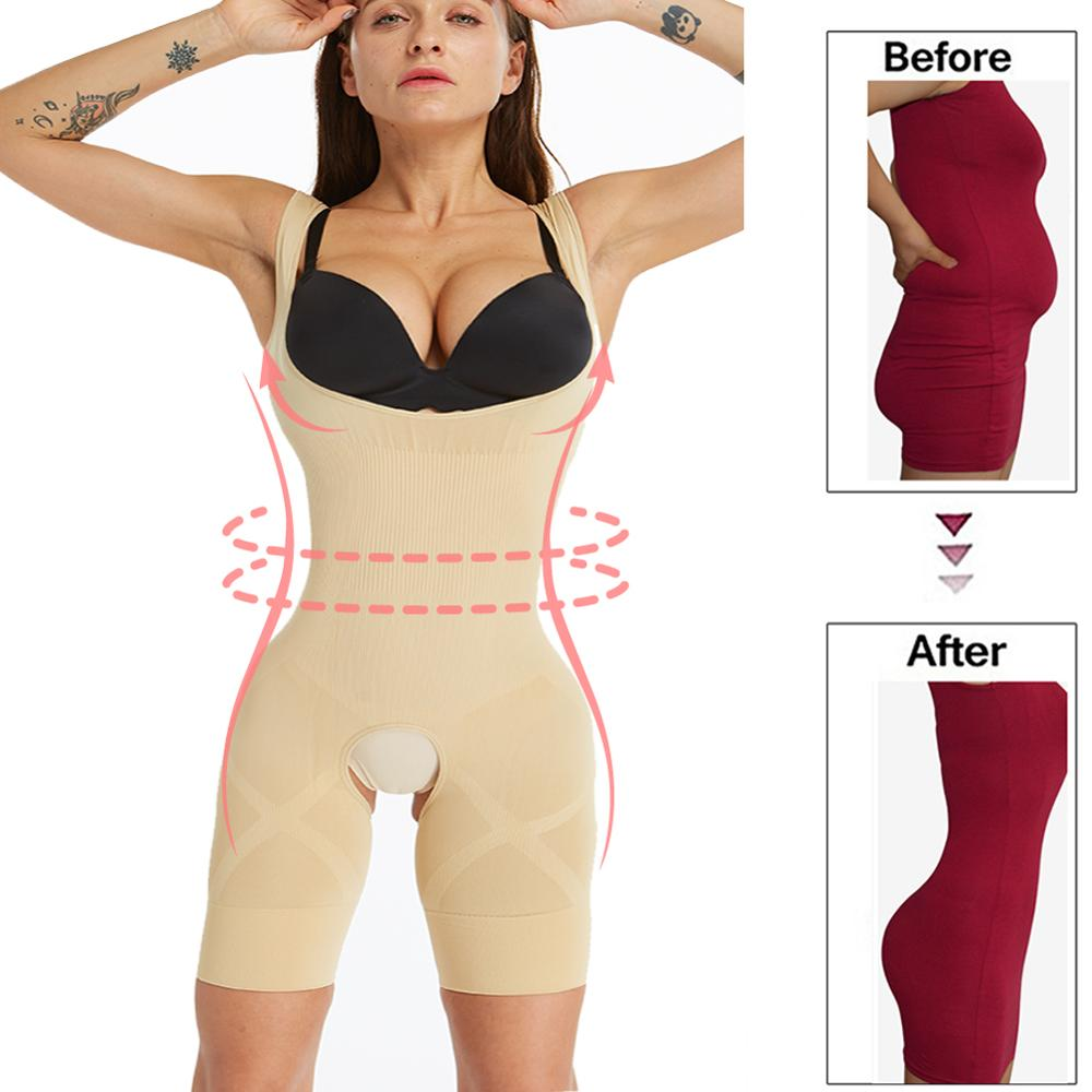 Waist trainer Seamless Shapewear Firm Full body shaper women Corrective Underwear Slimming Underwear modeling strap tummy shaper