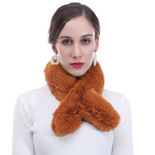 Унисекс, женские, мужские из искусственного меха, тянущийся зимний теплый для шеи воротник шарф легкий