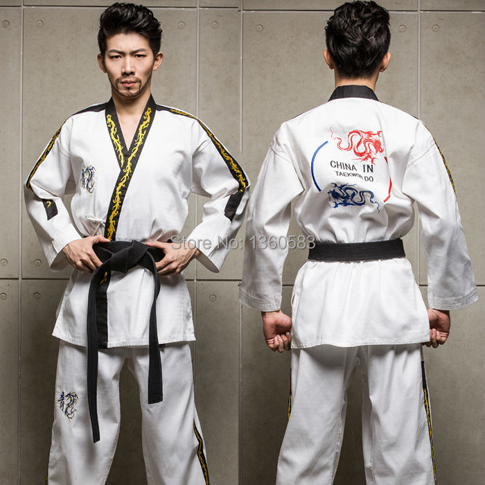 First sales High-end adult Taekwondo dobok cotten and bamboo fiber men women Taekwondo c ...