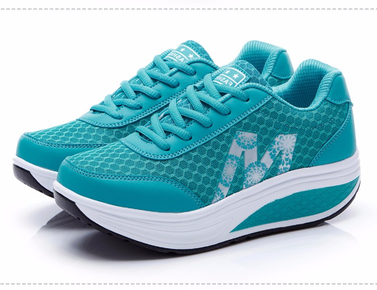 Slimming Shake shoes Women Fashion Breathable Mesh Casual Shoes Spring Summer Lace Up Women Swing Shoes Platform Trainers YD52 (25)
