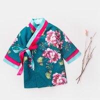 Maggie S Walker Little Girl Cheongsam Autumn New Style Floral Dress Girls Hanfu Printing Cheongsam Soft