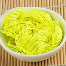 WITUSE 1m Nylon Cord Thread Chinese Knot Macrame Rattail Bracelet Braided String EQB174 недорого