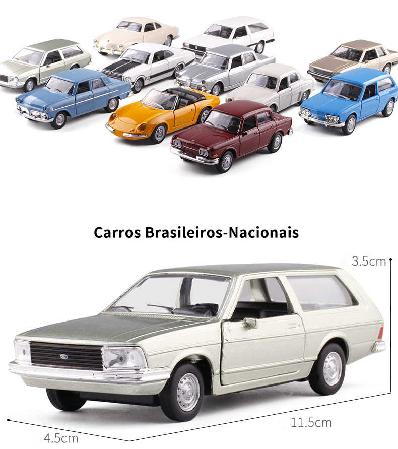 Metal Car Model 1:36 Scale Antique car VW/Ford/Alfa Romeo Diecast Automobile Toys For Collection Children Friend Gift