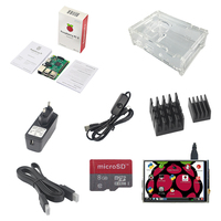 Raspberry Pi 3 B Model B Board+3.5 Touch Screen+Acrylic Case+8GB TF Card+2pcs Heat Sink+2.5A Power Supply with Switch+HDMI cable