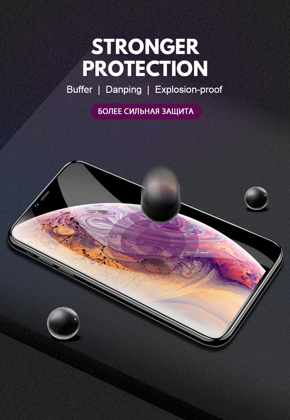 Pohiks 20D Protective Screen Film For IPhone X XS MAX XR 20D Full Cover Tempered Glass Screen Protector Film For iphone 7 8 6 6s
