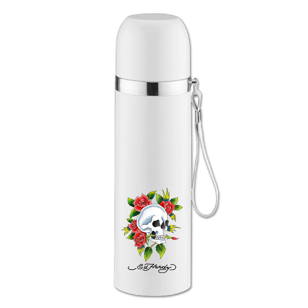 personalized ed hardy star vacuum thermos flask stainless steel 350ML unbreakable mugs