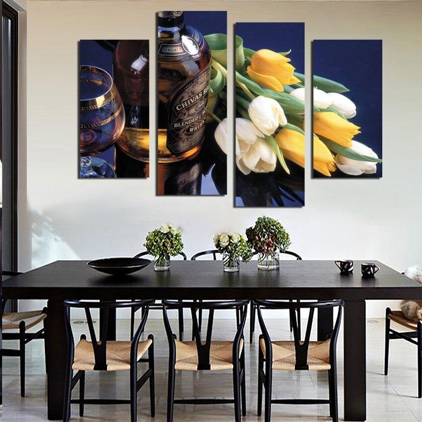online get cheap canvas painting dining room 4 -aliexpress.com ... - Bella Decorazione Della Parete Da Pranzo Moderno