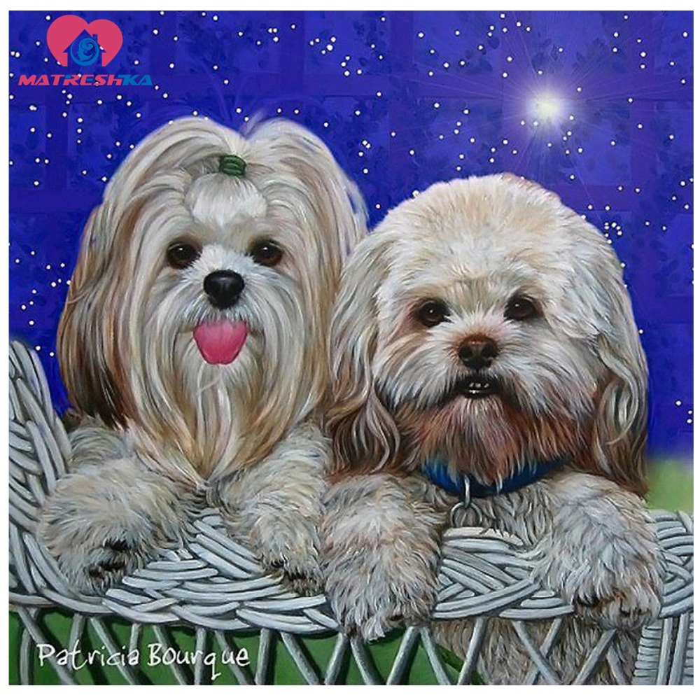 Diamond painting animals dog Rhinestones glass Decorative canvas pictures Pictures of rhinestones sale Diamond plate Crafting ...