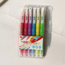 6 Pcs/Set color gel pen Watercolor glitter cute tinta plastic Festoon office lapices supplies stationery kawaii kalem material 1 pcs set color gel pen kawaii watercolor glitter cute tinta plastic festoon office lapices supplies stationery kalem material