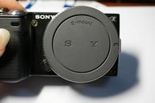 Rear Lens Cap Cover font b Camera b font Front Body Cap For Sony E Mount