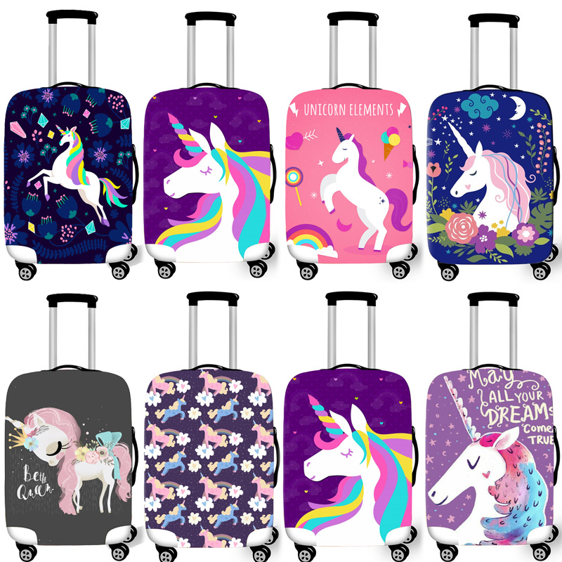 Elastic Luggage Protective Cover Case For Suitcase Protective Cover Unicorn Xl Trolley Case Trunk 18-30 inch Travel Accessories(China)