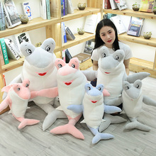 New 1pc 60cm/90cm Giant Shark Plush Whale Stuffed Fish Ocean Animals Kawaii Doll Toys For Children Kids Cartoon Toy