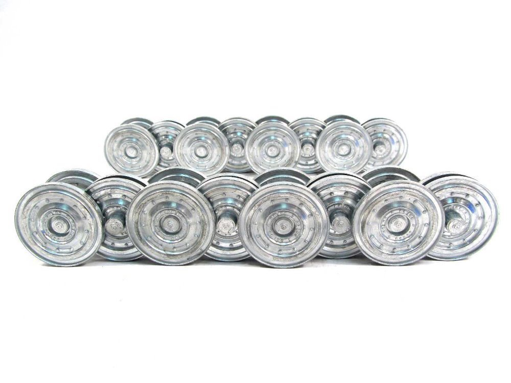 Mato 1/16 Metal Road Wheels Set  Late Version for Heng Long 3818-1 1:16 RC German Tiger 1 tank, upgrade parts, Sturmtiger free shipping 380 boat motor with shaft propeller kit shaft assembly spare parts for diy rc electric boat model 10 15 20 25 30cm