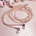 Elegant In-ear Earbuds Stylish Jewelry Pearl Necklace Earphones Pearl Earpiece Women with Mic Support Smart Phone fone de ouvido