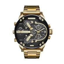 Часы с большим циферблатом для мужчин час для мужчин s часы лучший бренд класса люкс кварцевые часы человек кожа спортивные наручные часы сплав Ремешок