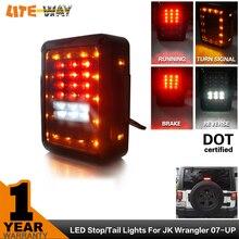 2 unids JK Led Luz Trasera del coche Luz de Freno Luz de Señal Inversa luz Para versión Europea y EE.UU. 2007 ~ 2015 wrangler Jeep LED luz trasera
