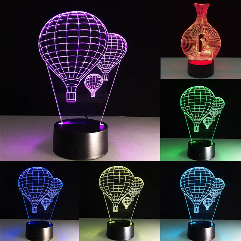 Lights & Lighting Clock Shape 3d Illusion Visual Night Light Led 7 Colors Changing Lamp Night Gift For Friends Lovers 30dc27