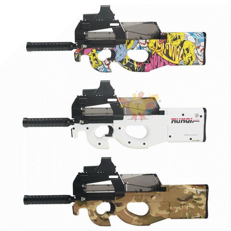 Pistola de juguete eléctrica P90, pistola de agua, pistola, Graffiti, edición en vivo CS, arma de asalto, pistola al aire libre, Juguetes