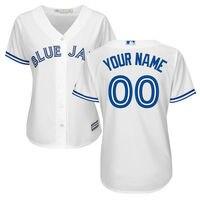 MLB Women S Toronto Blue Jays White Home Cool Base Custom Jersey