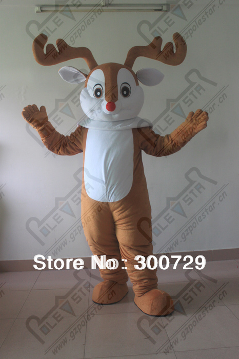 Traje de la mascota del reno de la Navidad para los trajes de los - Disfraces