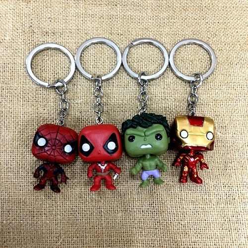 2019 Cổ Điển Movie The Avengers Liên Minh Siêu Anh Hùng Sắt Người Đàn Ông Vài Keychain Pvc Xe Keyring Phụ Nữ Quyến Rũ Túi Phụ Kiện Mặt Dây Chuyền