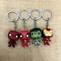 2019 clásico película de los Vengadores Alliance Super Hero Iron Man llavero pareja Pvc coche llavero mujer colgante bolso accesorios colgante