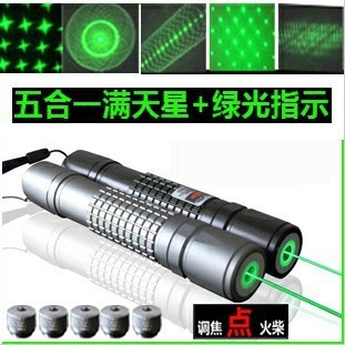 new focusable high power green laser pointer 50000m 532nm flashlight LAZER burning match burn cigarettes,pop balloon 5 star caps